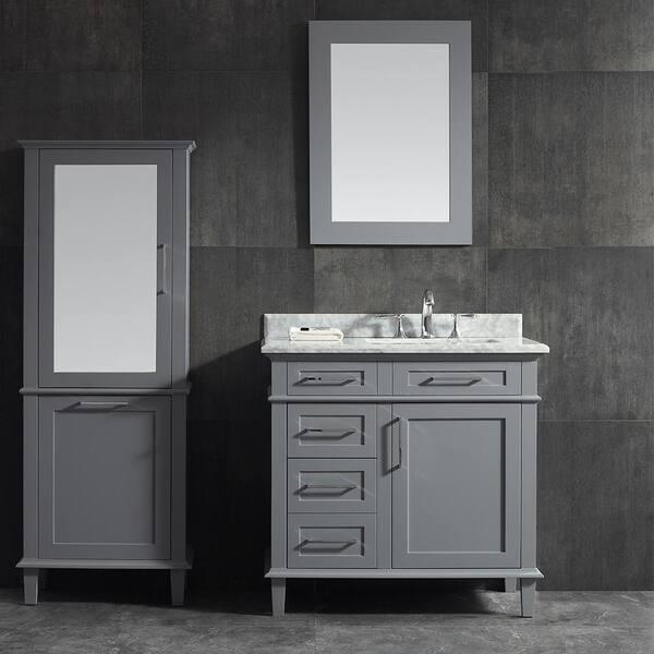 Home Decorators Collection Sonoma 36 In, Pebble Grey Bathroom Cabinets