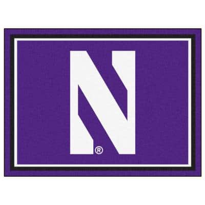 NCAA - Northwestern University Purple 10 ft. x 8 ft. Indoor Rectangle Area Rug