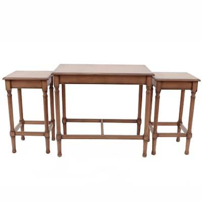 Miranda Irish Brown Nesting Tables (Set of 3)