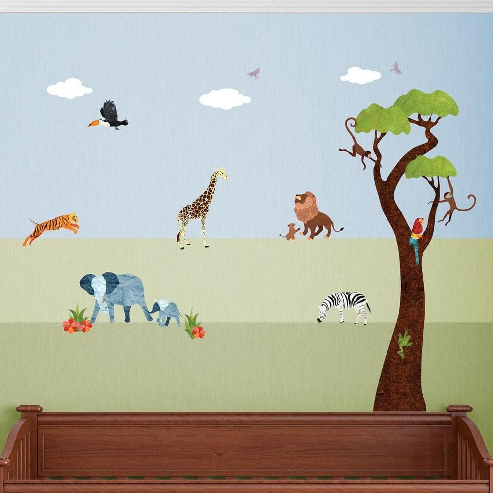 Safari Cats Wall Decal Set of 3