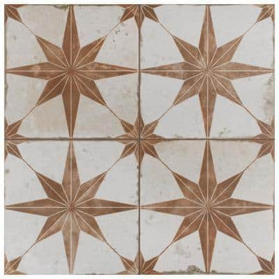 Kings Star Oxide Encaustic 17-5/8 in. x 17-5/8 in. Ceramic Floor and Wall Tile (11.02 sq. ft./Case)