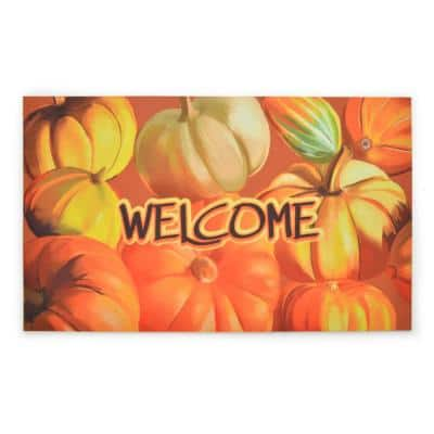 Crumb Rubber Bountiful Harvest 18 in. x 30 in. Recycled Rubber Door Mat