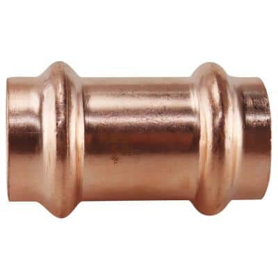 3/4 in. x 3/4 in. Copper Press x Press Repair Coupling with No Stop