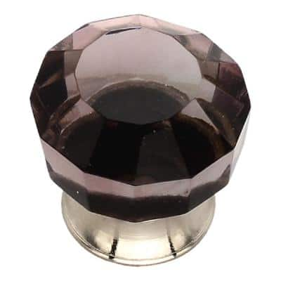 1-1/4 in. Merlot Crystal Cabinet Knob