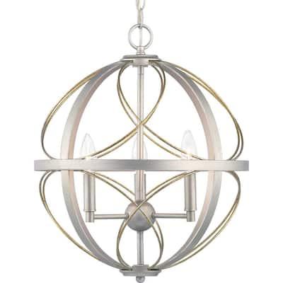 Brandywine Collection 3-Light Silver Ridge Pendant