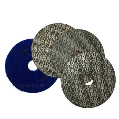 3 in. Electroplated Diamond Polishing Pads (Set of 4)