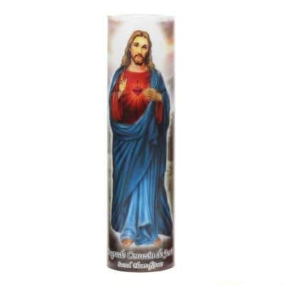 8 in. Jesus LED Prayer Candle