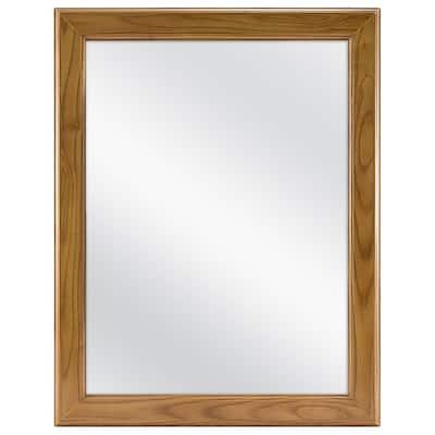 15-1/8 in. W x 19-1/4 in. H Framed Recessed or Surface-Mount Bathroom Medicine Cabinet in Oak