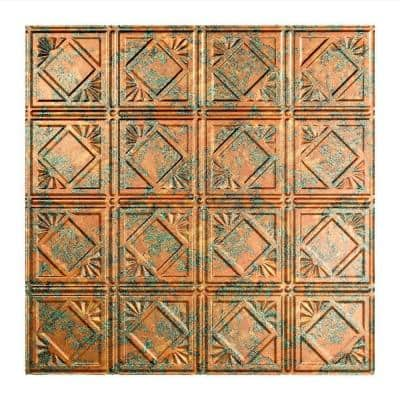 Traditional #4 2 ft. x 2 ft. Copper Fantasy Lay-In Vinyl Ceiling Tile (20 sq. ft.)