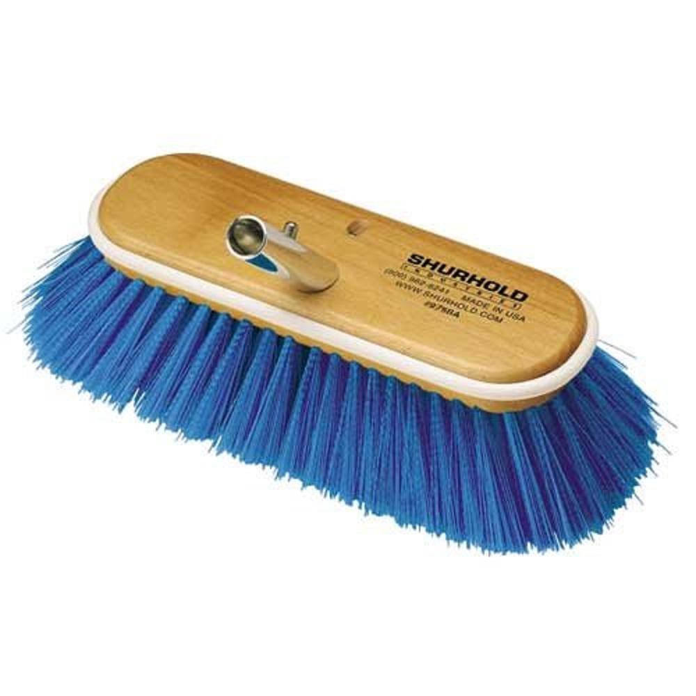 6 in. Deck Brush Extra Soft Blue Nylon
