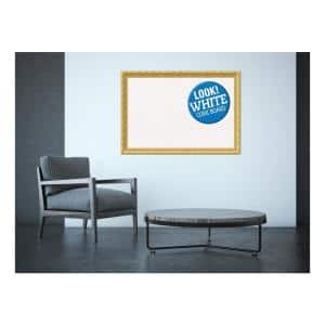 Amanti Art Corvino White Wood 41 In X 29 In Framed Grey Cork Board Dsw3994478 The Home Depot