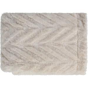 Ryker Cream Throw Blanket