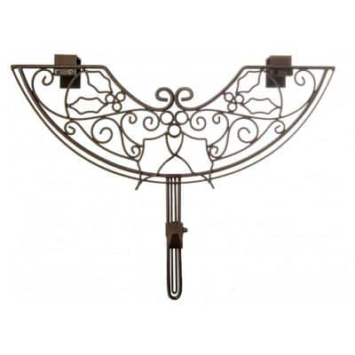 24 in. Brown Holly Berry Design Adjustable Decorative Christmas Wreath Hanger