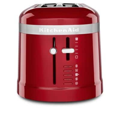 4-Slice Empire Red Long Slot Toaster with High-Lift Lever