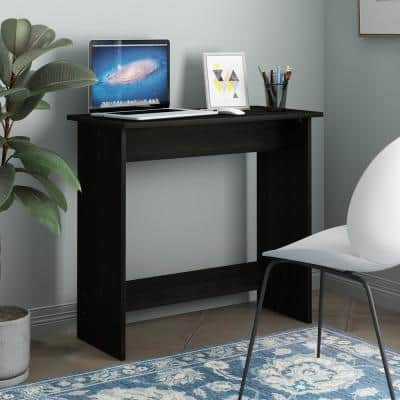 32 in. Rectangular Espresso Computer Desk with Solid Wood Material