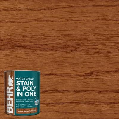 1 qt. #TIS-360 Antique Walnut Satin Semi-Transparent Water-Based Interior Stain and Poly in One