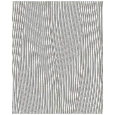 Daphne Silver Vinyl Strippable Roll (Covers 12.99 sq. ft.)