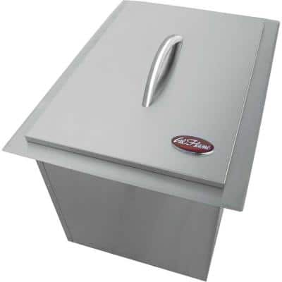 20-3/4 in. Drop-In Stainless Steel Ice Bucket for Outdoor Kitchen