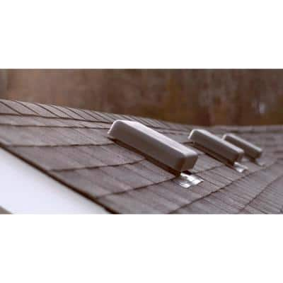 60 sq. in. NFA Black Resin Square-Top Roof Louver Static Vent (Carton of 10)