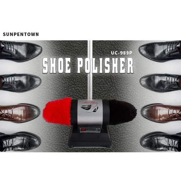 Sunpentown UC-989 Dual-Buffer Shoe Polisher w//Lamb Wool buffers