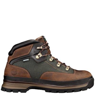 Men's Eurohiker Waterproof Hiker Work Boot - Soft Toe - Brown Size 11 (M)