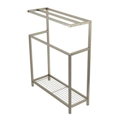 Edenscape 3-Bar Freestanding Towel Rack in Brushed Nickel