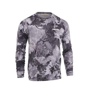 Men's X-Large Gray Veil Camo Tac Gray Long Sleeve Performance Shirt