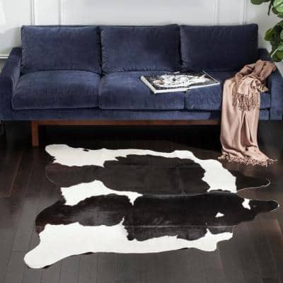 4 X 6 Cowhide Area Rugs Rugs The Home Depot