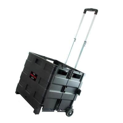 Heavy Duty Plastic Carry All Easy Folding Cart with Lid