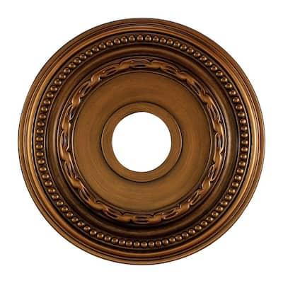 Campione 16 in. Antique Brass Ceiling Medallion
