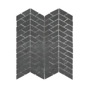 Riverfall Grey 10.75 in. x 11.875 in. Chevron Honed Basalt Wall and Floor Mosaic Tile (0.886 sq. ft./Each)