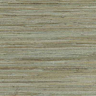Shandong Sea Green Grasscloth Sea Green Wallpaper Sample