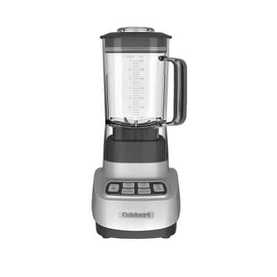 Velocity Ultra 56 oz. 2-Speed Brushed Silver Blender with Plastic Jar