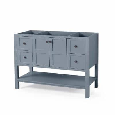 Jaeden 48 in. W x 22 in. D Bath Vanity Cabinet Only in Grey