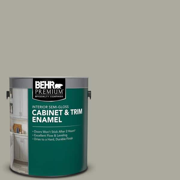 Reviews For Behr Premium 1 Gal Ppu25 05 Old Celadon Semi Gloss Enamel Interior Cabinet And Trim Paint 712001 The Home Depot