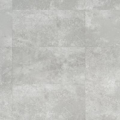 Revive 6mil Metalcrete 12.4 in. W x 24.4 in. L Platinum Waterproof Glue Down Vinyl Tile Flooring (42.04 Sq. Ft. / Case)