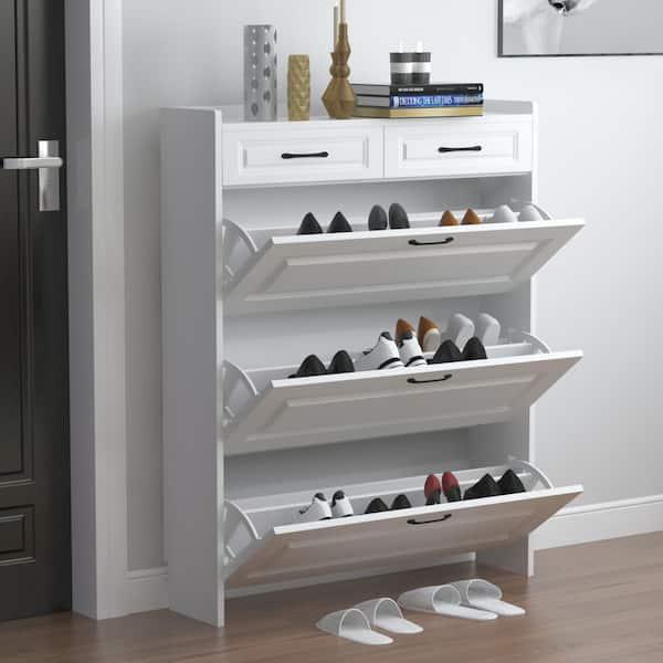 Fufu Gaga 47 2 In W H X 35 4 24, Shoe Storage White Cabinet