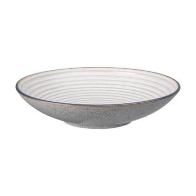 Studio Grey White Stoneware 84.53 fl. oz. Large Ridged Bowl