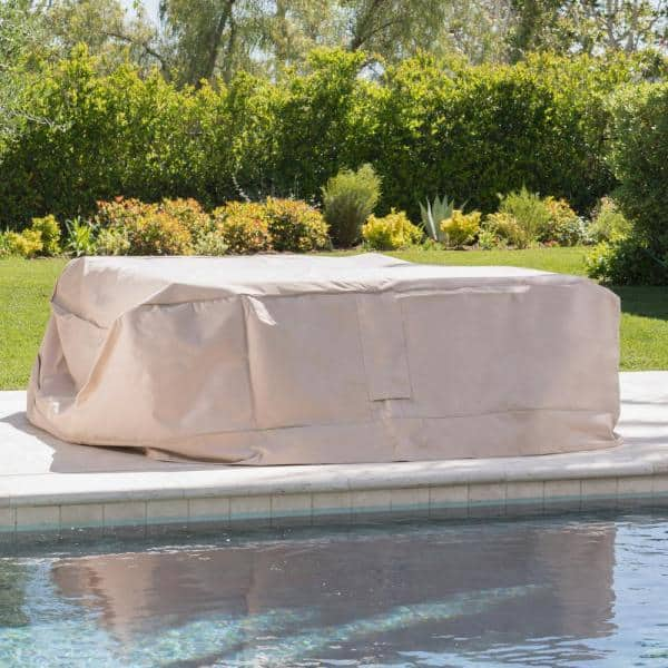Noble House Shield Large Beige Patio, What Is The Best Fabric For Outdoor Furniture Covers