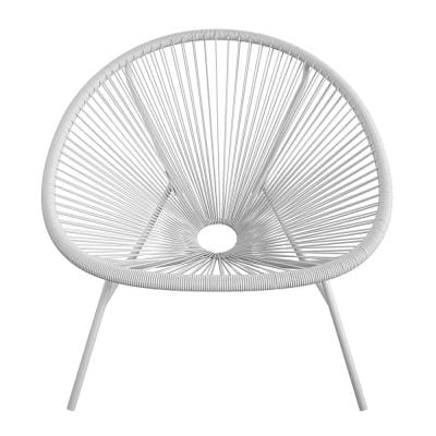 CosmoLiving by Cosmopolitan Avo Modern Oversized Gray Metal Outdoor Lounge Chair (2-Pack)