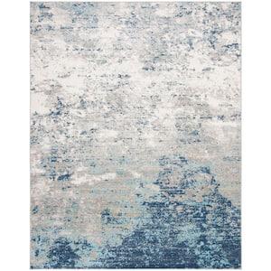 Brentwood Light Grey/Blue 9 ft. x 12 ft. Area Rug