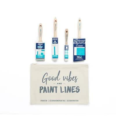 Furniture Refinishing Paintbrush Kit with Bag (4-Piece)