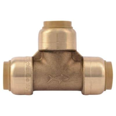 1/2 in. Push-to-Connect Brass Tee Fitting (10-Pack)