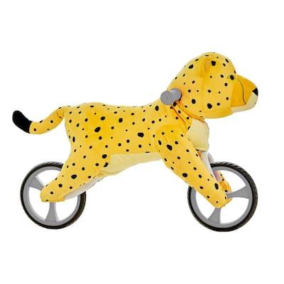 Kid's Animal Plush Toddler Training Balance Bike Ride On Toy, Cheetah