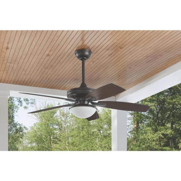 Hampton Bay Gazebo Iii 52 In Indoor Outdoor Natural Iron Ceiling Fan With Light Kit Yg836a Ni The Home Depot