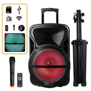 12 in. Portable Bluetooth Speaker and Tripod Stand