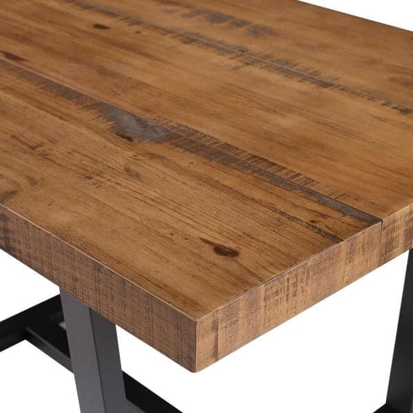 Welwick Designs 52 In Reclaimed Barnwood Distressed Solid Wood Dining Table Hd8096 The Home Depot