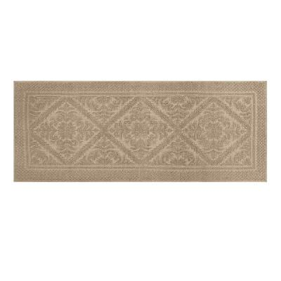 Provence Collection Beige 20 in. x 60 in. 100% Cotton Bath Rug
