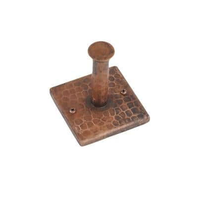 Hand Hammered Copper Single Robe Hook in Oil Rubbed Bronze