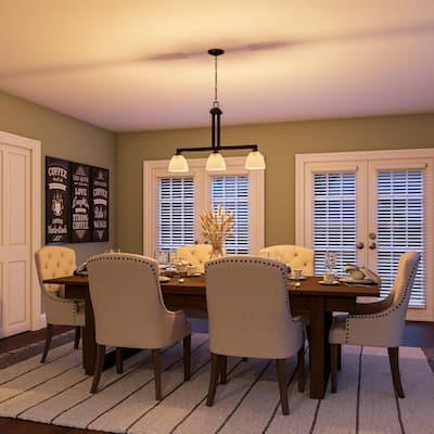 Mattock 3-Light Oil Rubbed Bronze Kitchen Island Light with Glass Shades